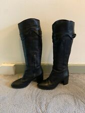 Pied A Terre Black Leather Boots Size 36/UK 3