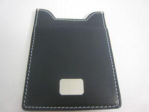 Black Colibri Leather Wallet Money Clip Engravable