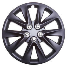 TopTech Velocity 16 Inch Wheel Trim Set Matt Black Set of 4 Hub Caps Covers