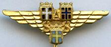 Scandinavian Airlines System SAS Vintage Pin Badge Nice Grade !!!