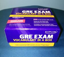 Kaplan ~ GRE Exam Flash Cards ~ Vocabulary In A Box ~ Second Edition ~ 500 HARD