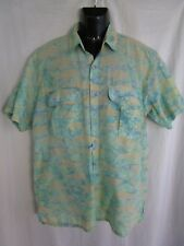 The Days Catch 100% Cotton Men's Mesh Vented Fishing Print Shirt Size Large L