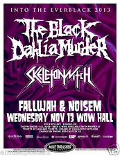 "THE BLACK DAHLIA MURDER / SKELETONWITCH ""EVERBLACK TOUR"" 2013 CONCERT POSTER"