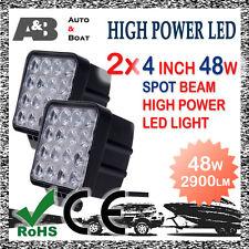 "2x A&B 48W 4"" 16-LED SPOT BEAM OFF ROAD DRIVING LIGHT WORK LAMP 2900LM"
