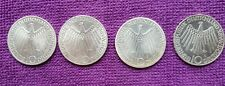 4 Gedenkmünzen Olympische Spiele München 1972 D D F J, 10 DM Silbermünzen