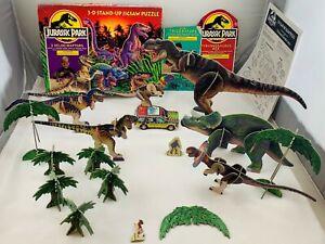 1993 Jurassic Park Tyrannosaurus Rex, Triceratops, and Velociraptors 3D Puzzles
