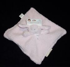 NEW Blankets & and Beyond Pink Bunny Baby Blanket Fuzzy Sherpa Security Lovey