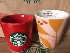 NEW Starbucks 2015 Thanksgiving & 2013 Holiday Taster's Cup 3 fl oz