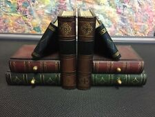 Vintage Wooden Stack of Books Bookends Secret Safety Drawer Set