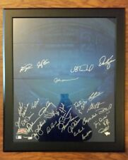 2014 100 Years 16x20 Chicago Cubs Signed Auto Framed Andre Dawson Fergie Jenkins