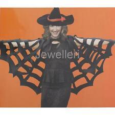 Black Spiderweb Cloak Fancy Dress Halloween Spider Cape Witch Props Gothic