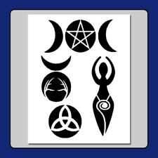 8 X 10 WICCAN/Witch Symbols STENCIL God/Goddess/Pentagram Craft/Airbrush/Stamp
