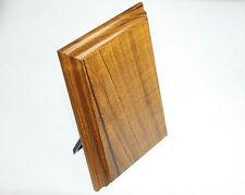 """PLACCA EFFETTO LEGNO LUCIDATA/plinto parete/da tavolo display con supporto 5"""" x 3.5"""""""