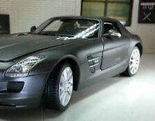 G 1:24 ECHELLE MERCEDES MOUETTE Aile V8 SLS AMG Welly Noir mate