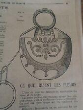 """PATRON ORIGINAL  POUPEE """" BLEUETTE """" SAC A OUVRAGE  SEPTEMBRE   1918"""