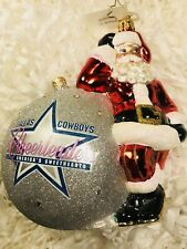 Radko Dallas Cowboys Cheerleaders 3013125 NWM Retired Football Ornament Jeweled