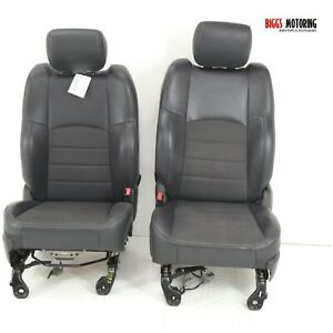 2010-2014 Dodge Ram Front Driver & Passenger Side Cloth Seats black