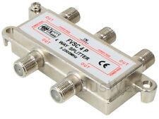 4-fach SAT Verteiler Splitter 5-2500MHz 100dB digital Kabel TV DVB-T HDTV UKW