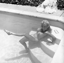 1960s Nude Virginia Bell Pool sitting in pools on steps lofty breasts Photograph
