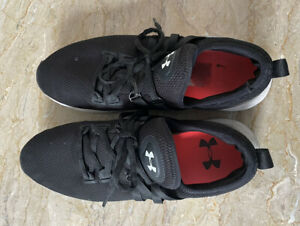 Black And Silver Underarmour Trainers