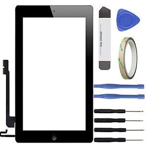 Apple iPad 4 Touchscreen A1458 A1459 A1460 Glasscheibe Display Digitizer schwarz