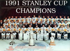 1991 PITTSBURGH PENGUINS TEAM 8X10 PHOTO NHL PICTURE STANLEY CUP CHAMPS