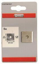 5 Stück Connex Klinge Kantenhobel 23 x 24 x 0,5 (K18B)