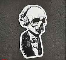 Music skull rock punk cute Sticker Skateboard Guitar Bike Car Vinyl Laptop Decal