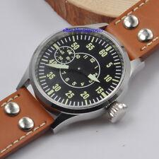 Sapphire Glass Parnis 44mm Men's Hand Winding 6497 Movement Watch Luminous Dial
