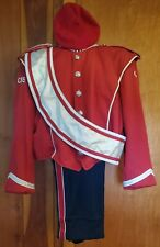 vintage stanbury marching band uniform beret red black silver size medium 235