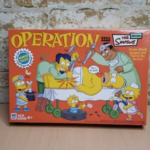 Operation Game The Simpsons Edition w/ Talking Homer 2005 Used 100% Complete