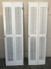 "52"" Tall  VTG Colonial Wood Interior Louver Plantation Window Shutters"