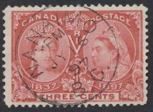 Canada Postmark - Nanaimo BC CDS PM JY 16 97, #53 3c Jubilee