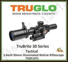TRUGLO TruBrite Tactical 1-6x24 30mm Illuminated Reticle Riflescope - TG8516TL