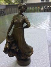 "Dancing Girl Bronze 5.6"" Sculpture-P.Tereszczuk ca.1910 Signed & Foundry Mark"