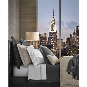 Ralph Lauren Penthouse Grey Clayton King Comforter Vintage Silver