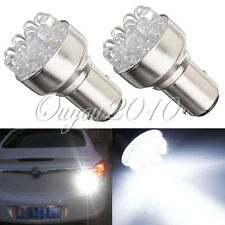 2x Car 1157 BAY15D 12 LED Brake Stop Turn Tail Light Lamp Bulb DC 12V White NEW