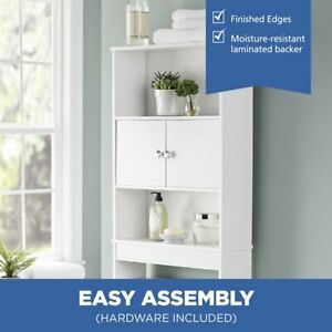Mainstays Bathroom Storage over the Toilet Space Saver with 3 Fixed Shelves