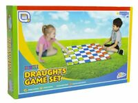 GIANT 60 x 60CM DRAUGHTS CHECKERS SET INDOOR OUTDOOR FUN FAMILY BOARD GAME SR11