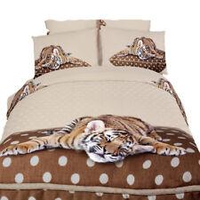 6 Piece Queen Duvet Cover Set Adorable Animal Print on 100% Egyptian Cotton