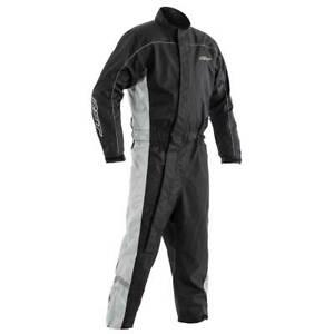 RST Hi-Vis Motorcycle Motorbike Waterproof Suit Black / Grey