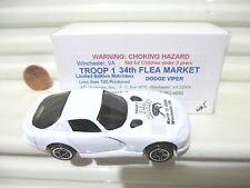 Matchbox 2004 Troop 1 Flea Market White Dodge Viper GTS Car Mint in Mint Box
