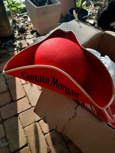 New Captain morgan rum red pirate hat (3 sided)