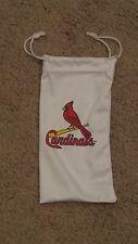 St Louis Cardinals White Drawstring EyeGlass Bag - New