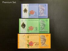 Malaysia - 12th Premium Set RM1+RM5+RM20 Collection #1 | UNC but no Folder