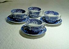 Spode 4 Cups & 3 Saucers Blue Room Italian Collection*Made in England* Wedding !