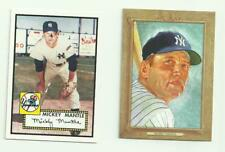 Mickey Mantle 2 Baseball Card Lot - Topps & Turkey Red