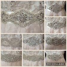 Wedding Dress Sash Belt Bridal Diamante Vintage Art Deco Nouveau Ivory Pearl