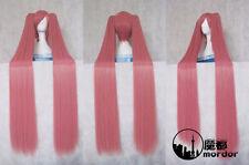 VOCALOID Sakura Miku Cosplay Wig Pink Straight 120cm Ponytails Japan Anime Wigs