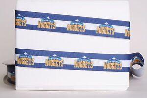 "DENVER NUGGETS BASKETBALL 7/8"" Grosgrain Ribbon Various Yard SHIP FROM USA"